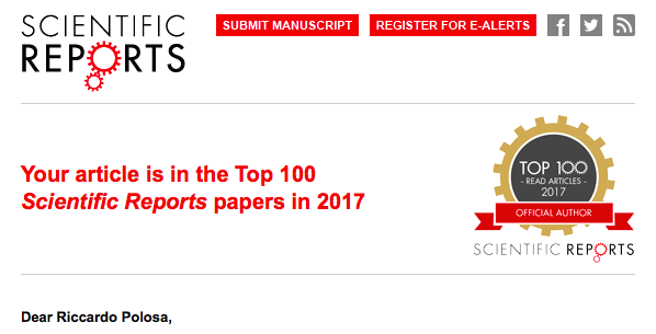 Zero Rischi: lo studio di Polosa è tra le ricerche più lette al mondo